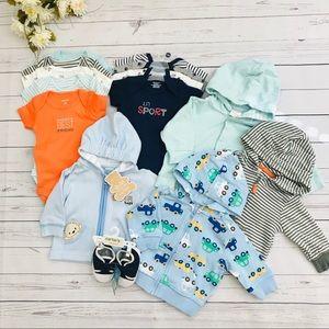 Blue Baby boy Newborn-6m  Lot 14 pcs